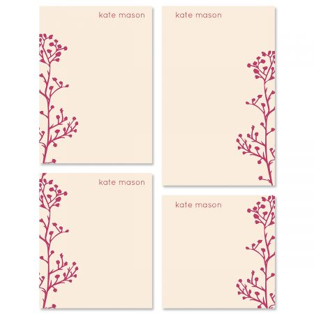 Babys Breath Custom Memo Pad Sets