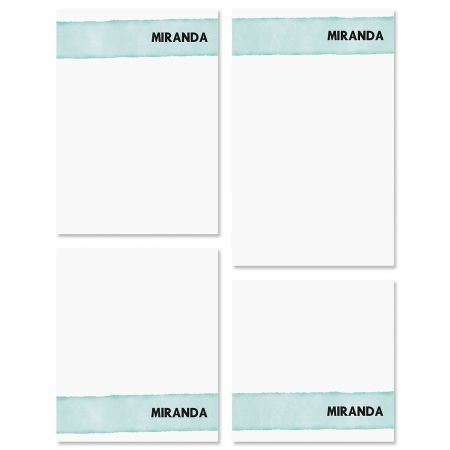 Watercolor Wash Custom Memo Pad Sets
