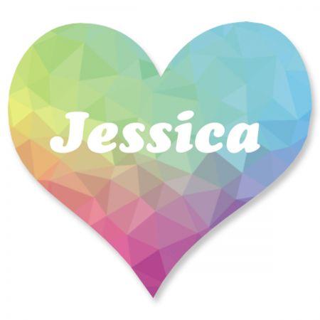 Custom Rainbow Crystal Heart Stickers