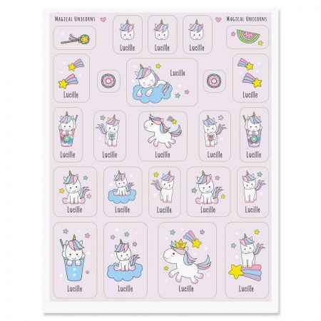 Custom Magical Unicorns Stickers