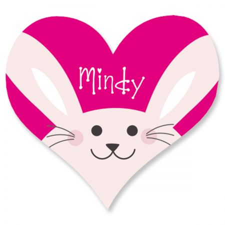 Custom Easter Bunny Heart Stickers