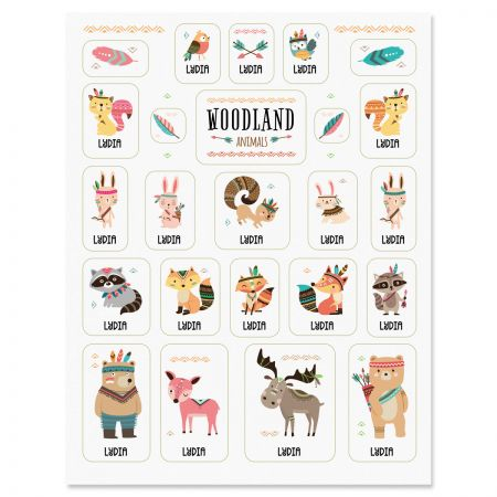Custom Woodland Animals Stickers