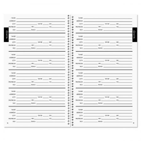 Music Note Lifetime Address Book