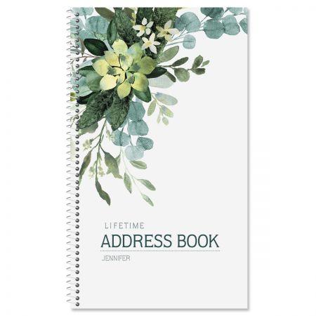 Olive Bloom Lifetime Address Book