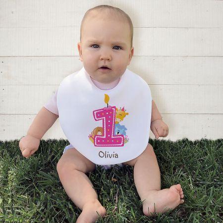 Personalized Baby's 1st Birthday Bib