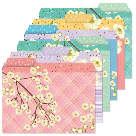 White Bloom File Folders Value Pack