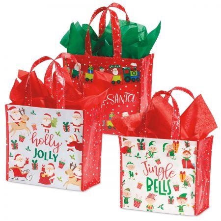 Santa's Helpers Cub Shopping Totes - Buy 1 Get 1 Free