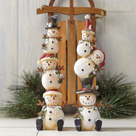 Holly Snowman Tabletop Stacker