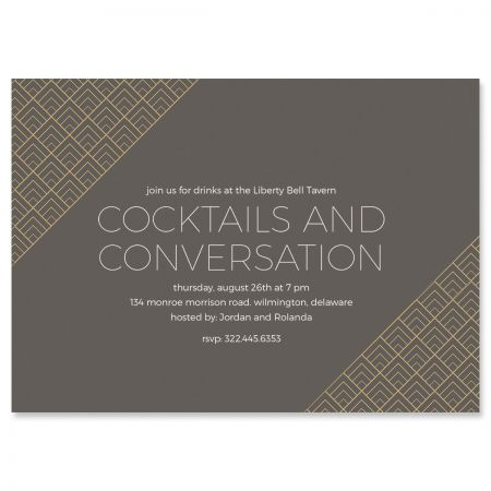 Custom Brilliant Triangle Scallop Invitations