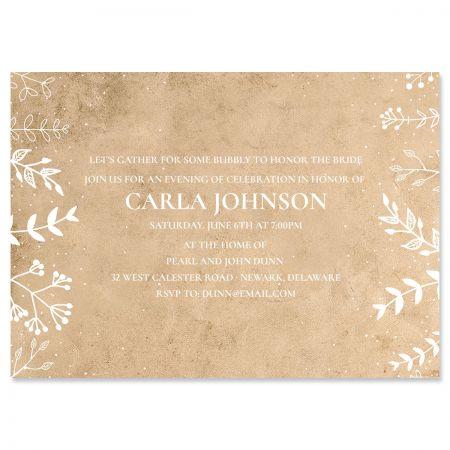 Custom Natural Joy Invitations