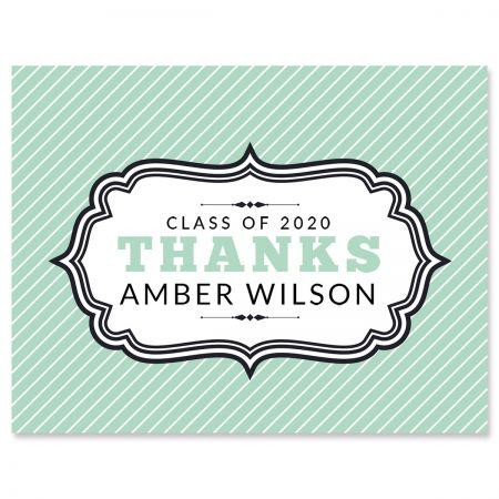 Custom Graduation Thank You Note Cards