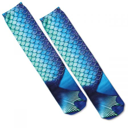 Mermaid Photo Print Knee Socks