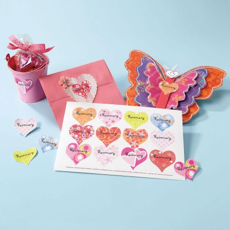 Custom Heart Stickers