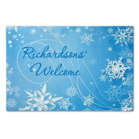 Snowflakes Personalized Doormat