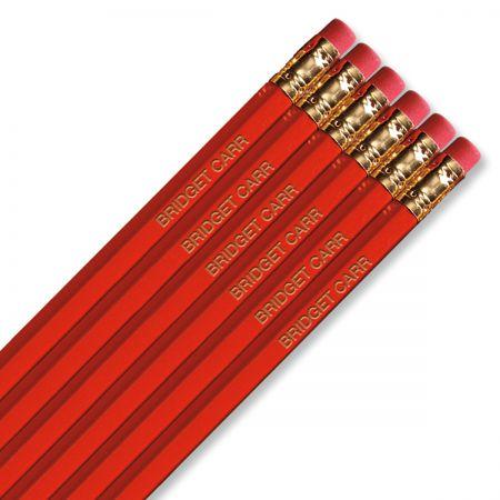 Dark Red #2 Hardwood Custom Pencils
