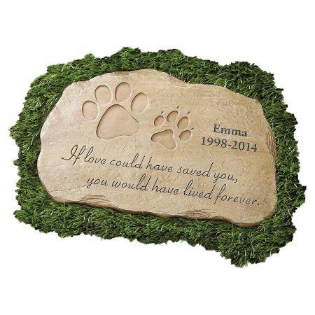 Pet memorial personalized garden stone colorful images pet memorial garden stone workwithnaturefo