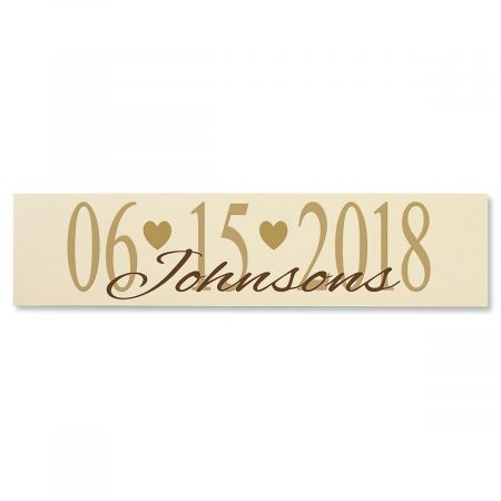 Wedding Date Plaque