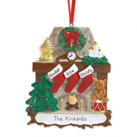 Mantel Stockings & Chimney Custom Christmas Ornaments