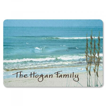 Seashore Welcome Personalized Doormat