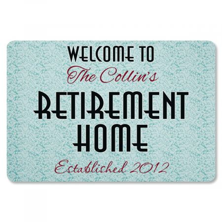 Retirement Home Custom Doormat