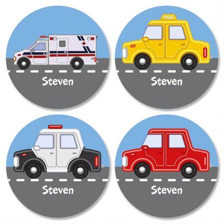 Vehicles Kids' Custom Stickers