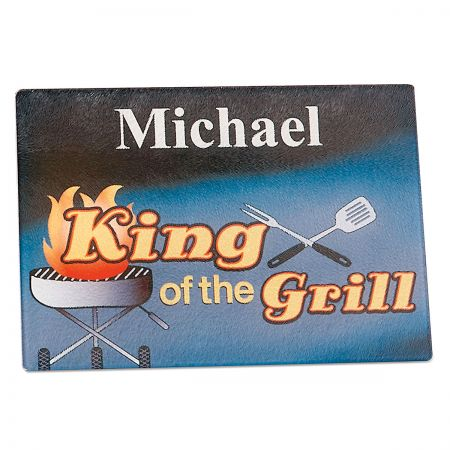 King of the Grill Custom Glass Cutting Board