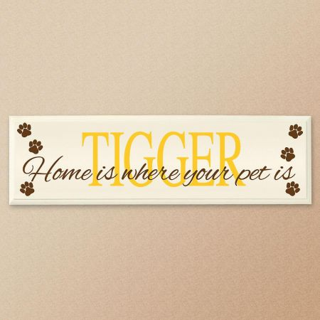 Home Is Where Your Pet Is Personalized Wooden Plaque