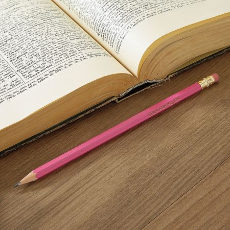 Dark Pink #2 Hardwood Custom Pencils