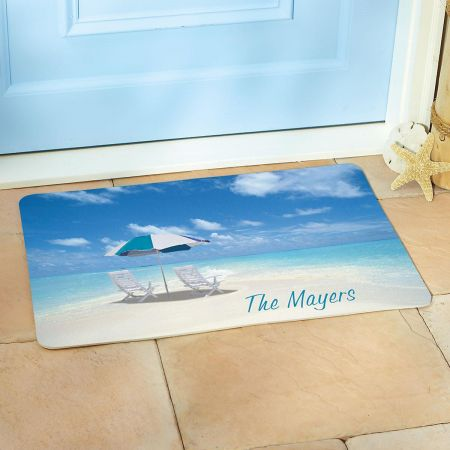 Tropical Paradise  Personalized Floor Mat