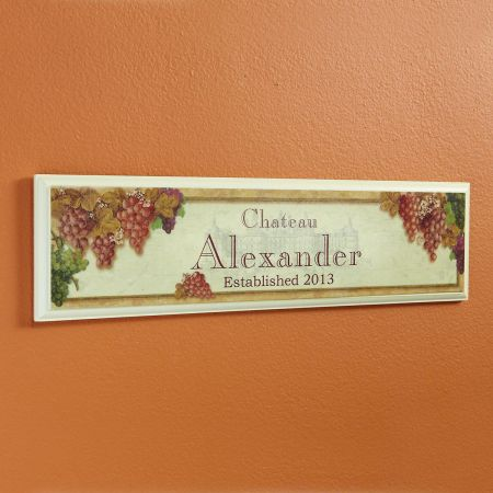 Vineyard Wooden Plaque
