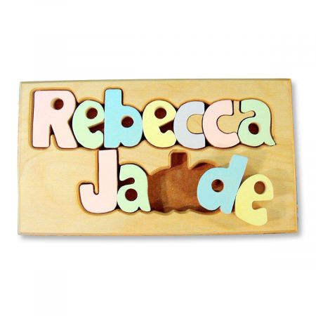 Custom Double Name Board Puzzle