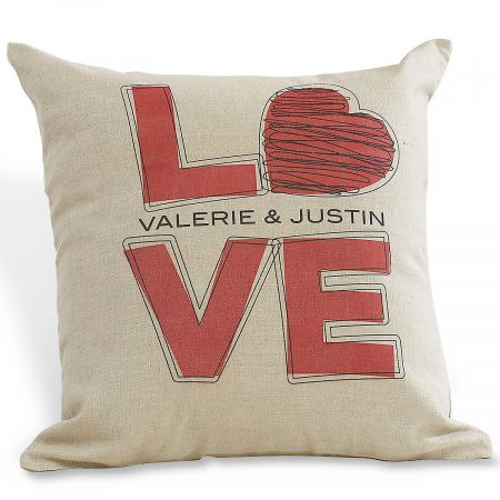 L-O-V-E Valentines Pillow