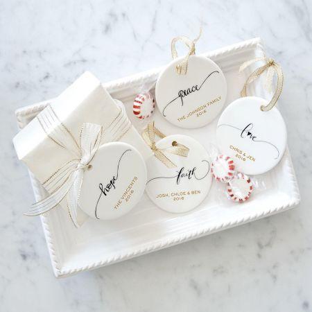 Custom Faith Round Christmas Ornaments