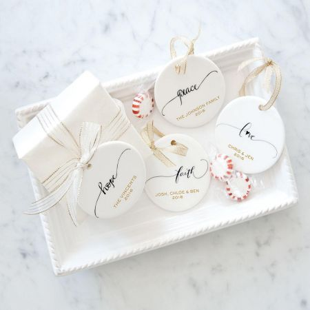 Custom Love Round Christmas Ornaments