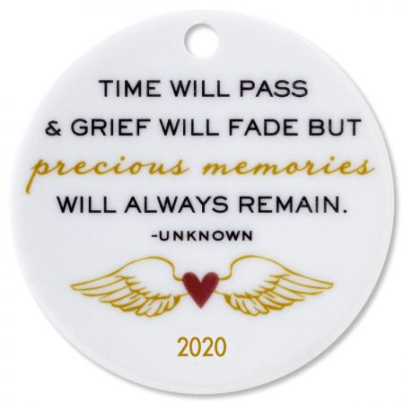 Custom Time Will Pass Round Memorial Christmas Ornament