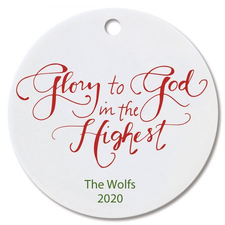 Glory to God Round Christmas Custom Ornaments