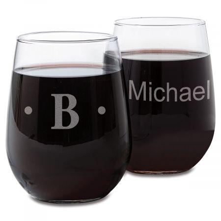 Stemless Custom Wine Glasses