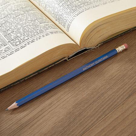 Blue #2 Hardwood Custom Pencils