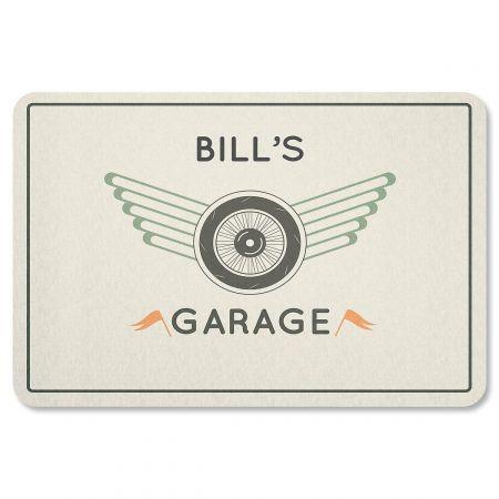 Custom Tire and Wheel Garage Doormat