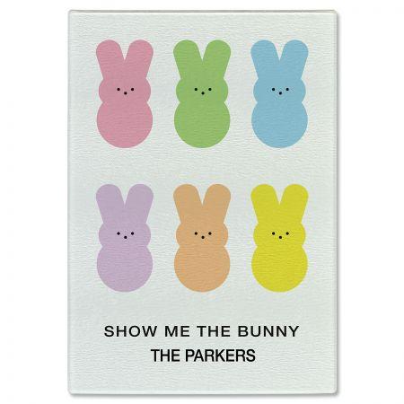 Show Me The Bunny Custom Glass Cutting Board