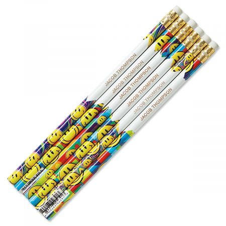 Smiley Faces #2 Hardwood Custom Pencils