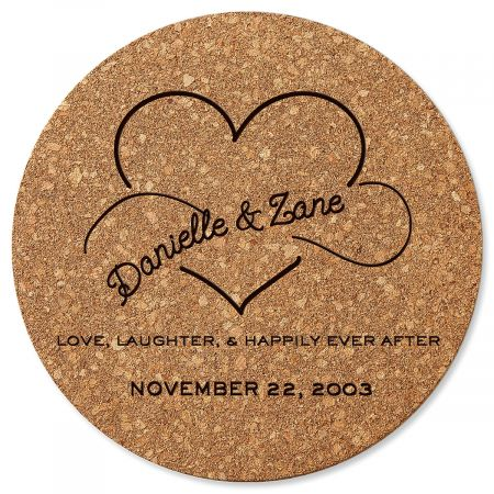 Happily Ever After Custom Round Cork Trivet