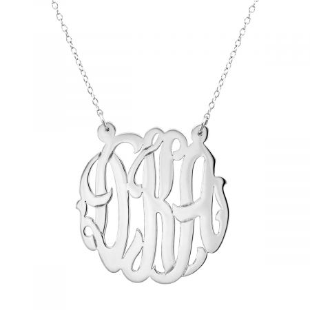 Monogrammed Sterling Silver Necklace