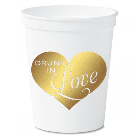 Drunk in Love White Stadium Cups