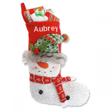Personalized Woodsy Pal Snowman Stocking