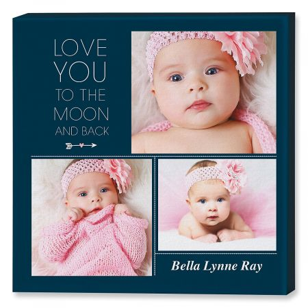 Love You Collage Custom Photo Canvas