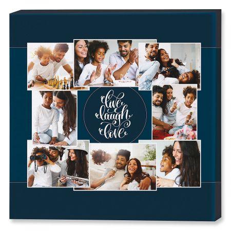 Live Laugh Love Collage Custom Photo Canvas