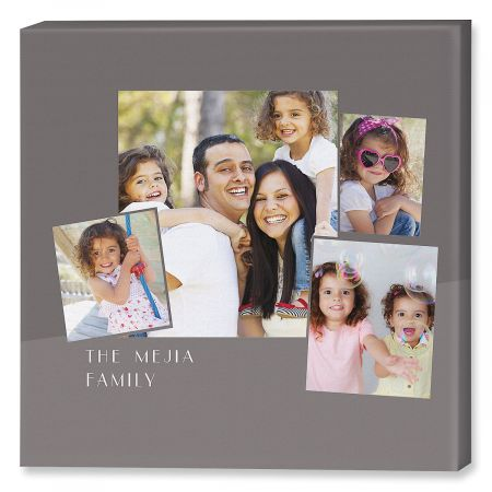 Family Name Collage Custom Photo Canvas