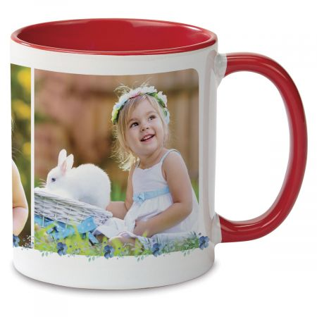 Floral Initial Custom Photo Mug