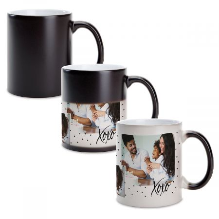 Family Hearts Custom Photo Mug